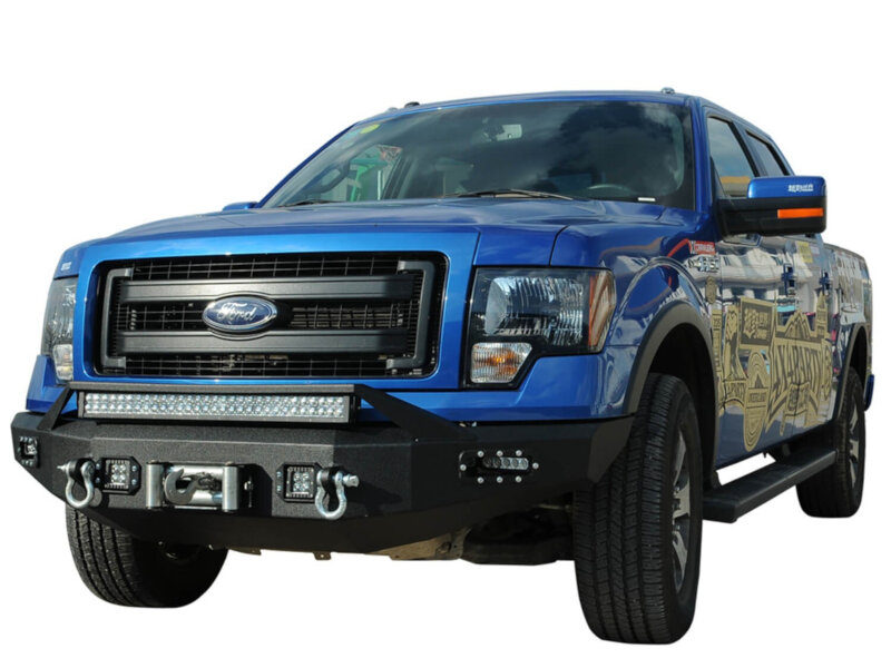 05 F150 Bumper >> 2009-2014 F150 Boxed Steel Winch Mount Front Off-Road ...