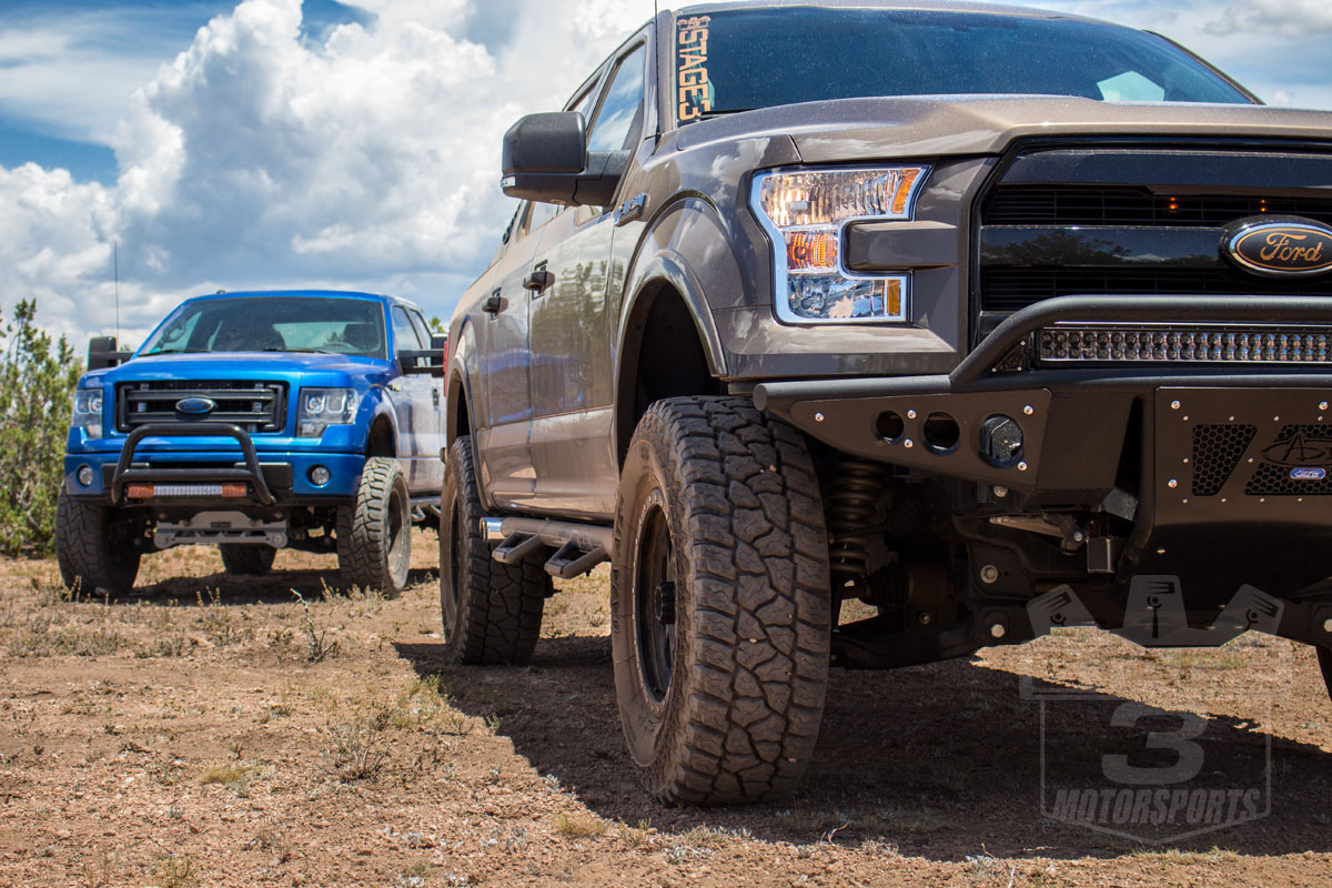 Stage 3 Off-Roading with Supercharged 5.0L F150s!