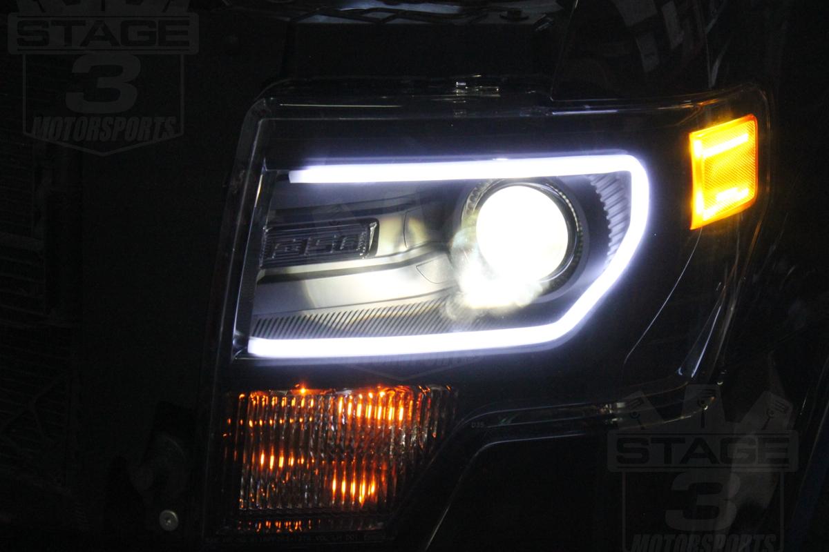 2009 2014 f150 c style bi xenon hid projector headlights install