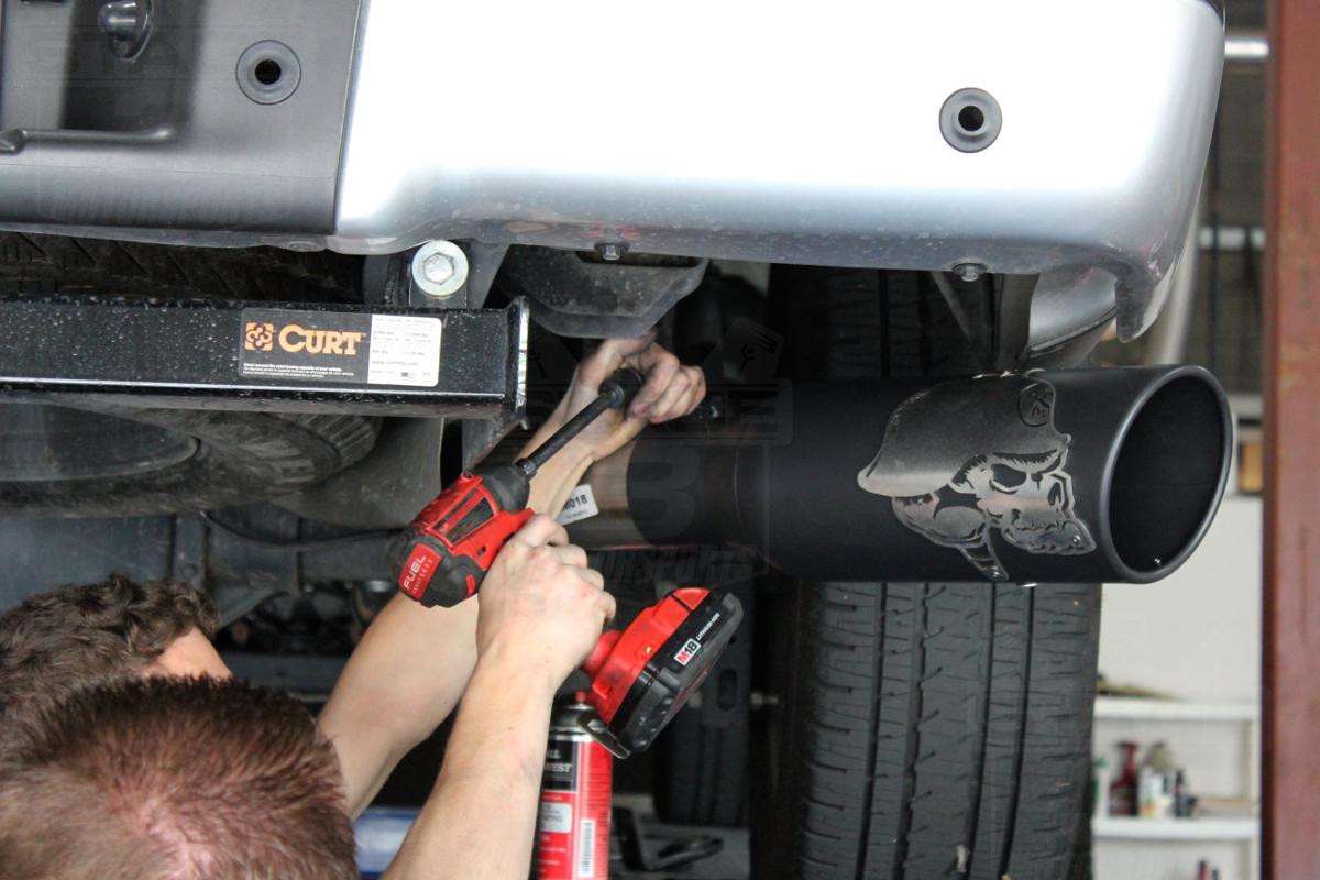 2011 2014 f150 ecoboost gibson 4 metal mulisha cat back exhaust kit 145 60 0018