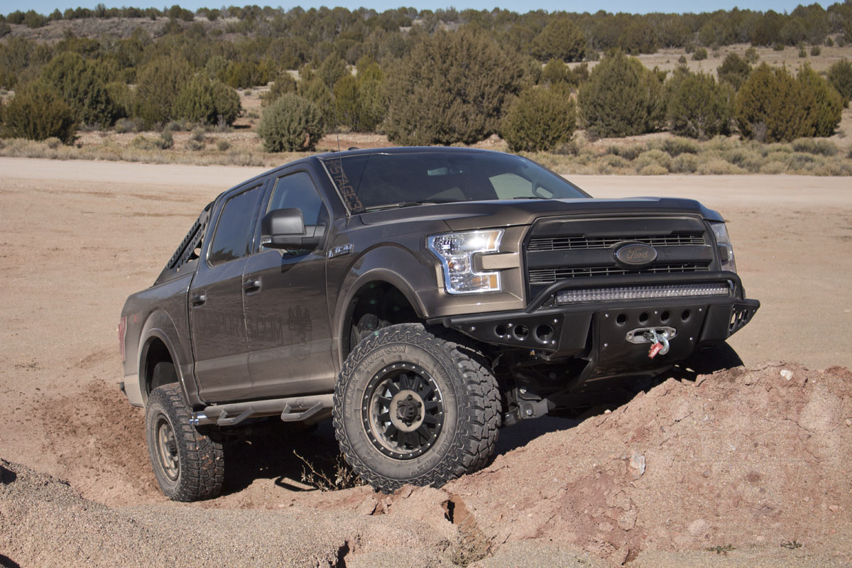2015 F150 with a BDS 4-Inch Coilover Suspension Lift Kit