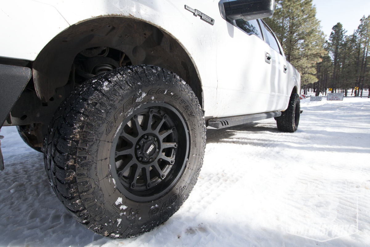 325/60R18 Toyo Open Country A/T II installed on a 2011 F150
