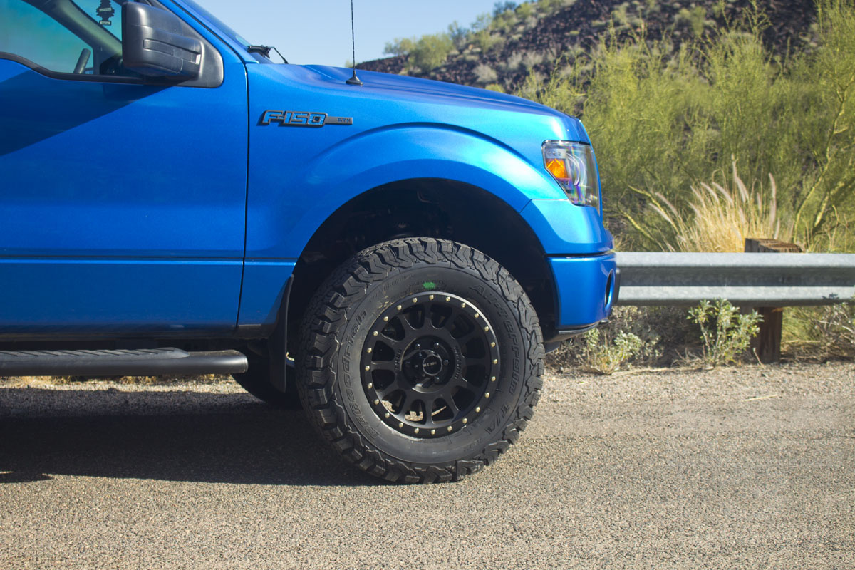 18x9 method nv wheels on a 2013 f150 with 33 inch tires