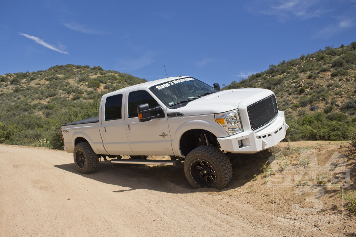 2014 f250 super duty with fusion off road front rear bumpers