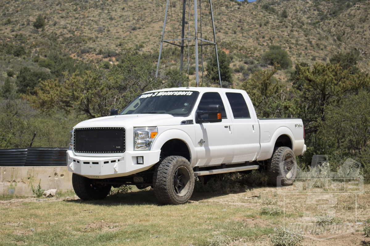 2014 Super Duty with Fuel Maverick 20x12 wheels with -44mm Offset