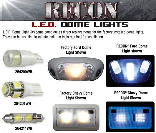 2004 2014 F150 Amp Svt Raptor Recon Led Dome Lights 264165