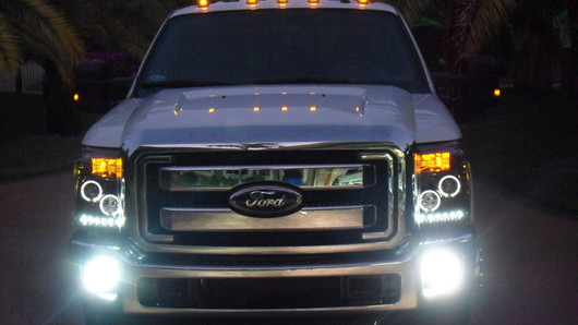 2012 F250 Headlights >> 2011-2016 Super Duty Recon Projector Headlights (Clear / Chrome) 264272CL