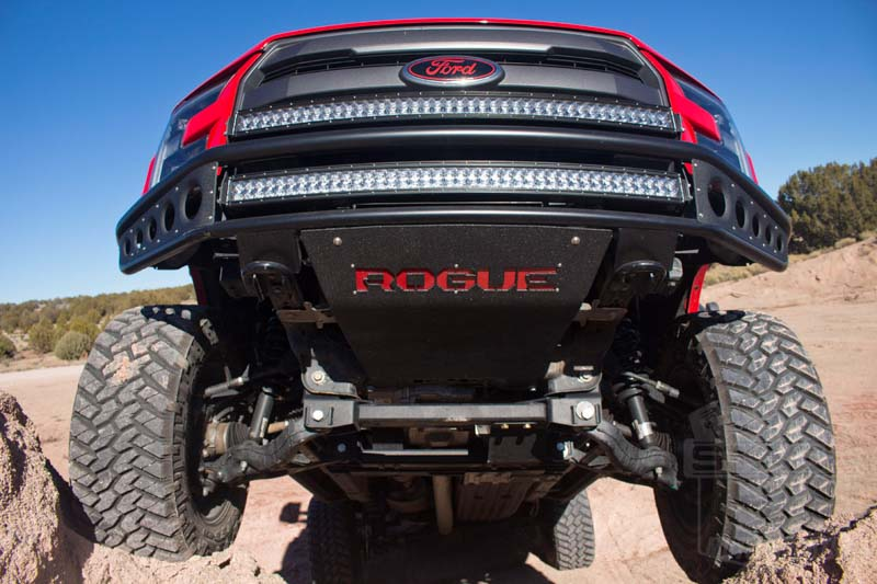 2015 2016 f150 rogue rebel front bumper installed on a 2015 f150 ecoboost