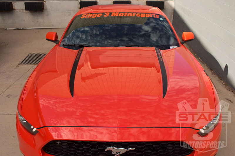 2015 2017 Mustang Stage 3 Hood Spear Decals 15musspears