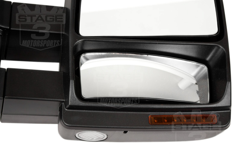 2007 2014 F150 Tow Mirrors With Puddle Lights Black Textured S3mf150tm