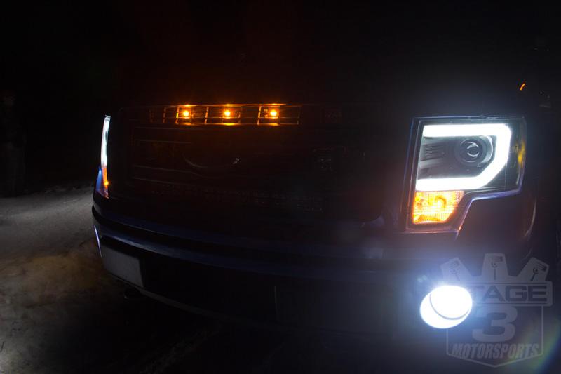 Led Headlights For F150 >> 2009-2014 F150 & Raptor Spyder Projector Headlights w/ DRL ...