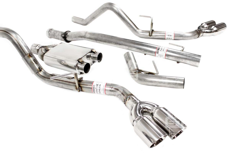 2011-2014 F150 EcoBoost Solo Mach-X Cat-Back Exhaust Kit