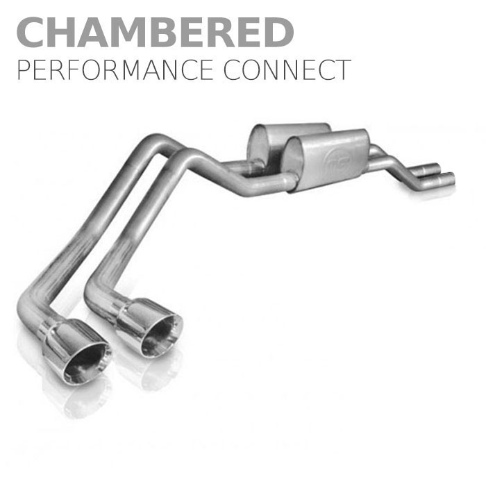 2004-2008 F150 5.4L Stainless Works Chambered Performance  Connect Side Exit Cat-Back Kit