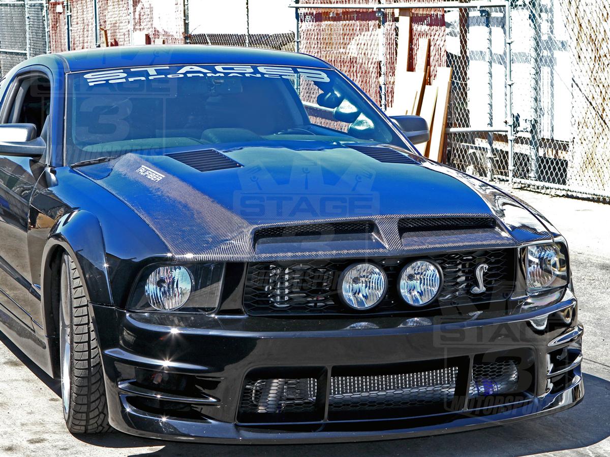 2005 2009 Mustang TruFiber A44 GT S III Ram Air Hood A44