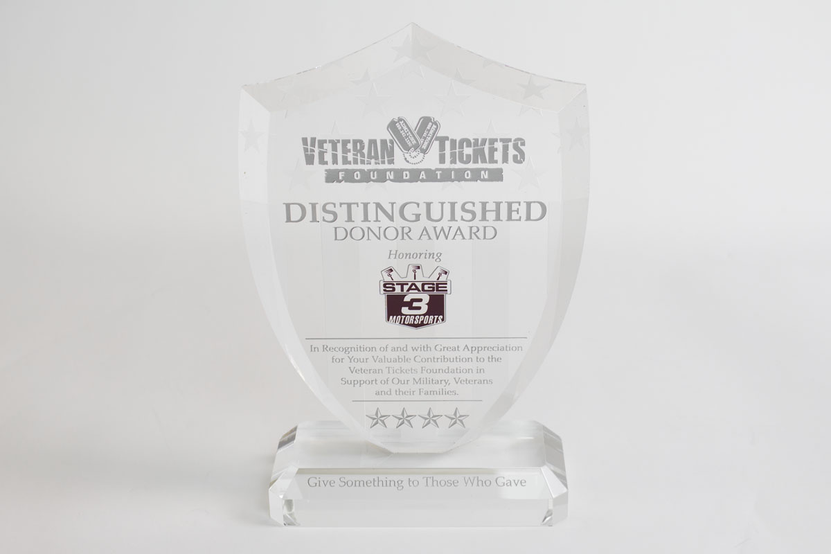 Stage 3's Award from VetTix 2015