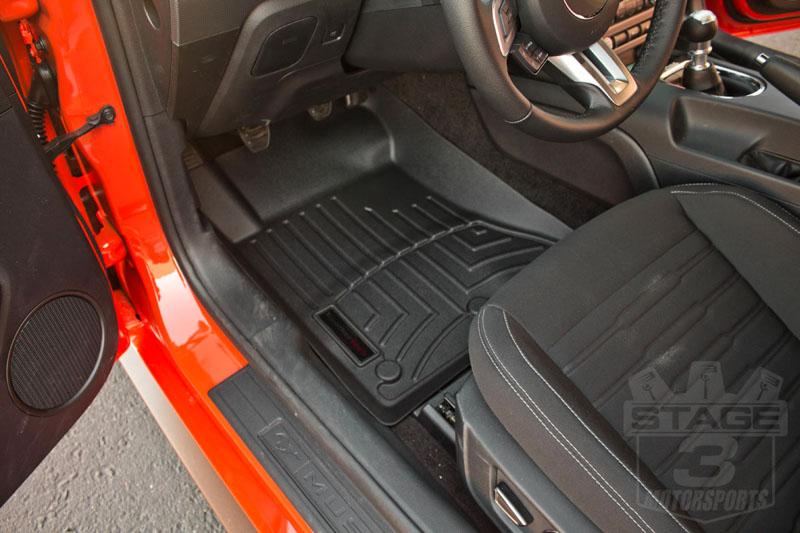2015 2017 mustang weathertech front digitalfit floor mats - 2013 mustang interior accessories ...
