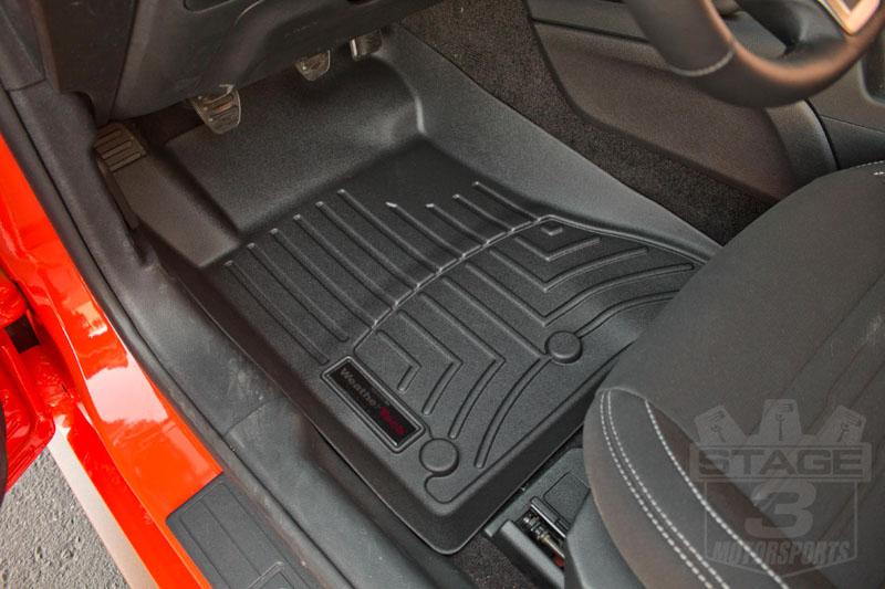 Mustang Weathertech Front Digitalfit Floor Mats Black