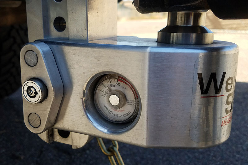 "Weigh Safe Hitch >> Weigh Safe 6-Inch Drop Hitch w/ Built-In Scale - 2.5"" Shaft WS6-2.5"