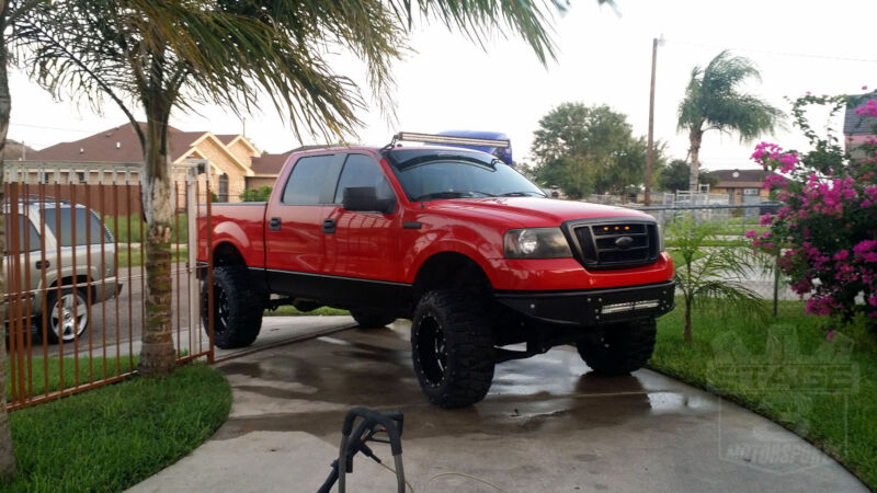 2004 2008 f 150 4wd zone offroad 6 lift kit f7 - Red Ford F150 Lifted