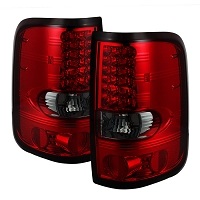 2004-2008 F150 Spyder LED Tail Lights (Red Smoked)