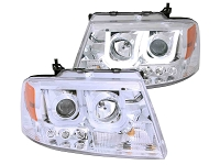 2004-2008 F150 ANZO U-Bar Projector Headlights (Chrome)