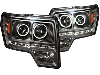 2009-2014 F150 ANZO G2 CCFL Halo Projector Headlights (Black)