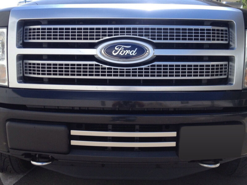 2011 F150 Grill >> 2011-2014 F150 Boost Bars Platinum-Style Lower Two-Bar ...