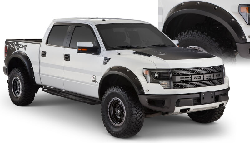 2010 2014 f150 raptor bushwacker - Black Ford F150 Raptor 2014