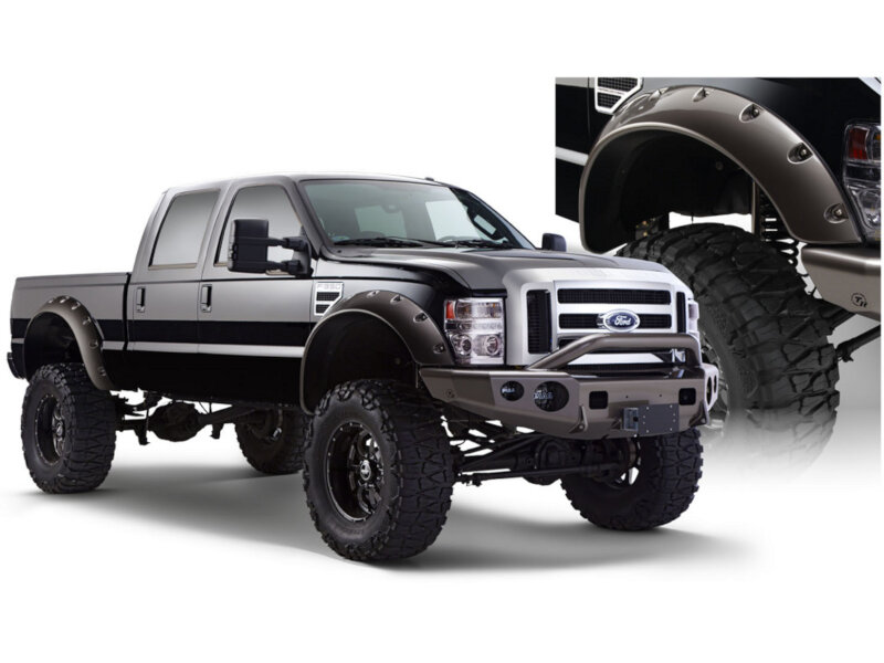 2008 2010 f250 f350 super duty bushwacker cut out style fender flares front only 20047 02