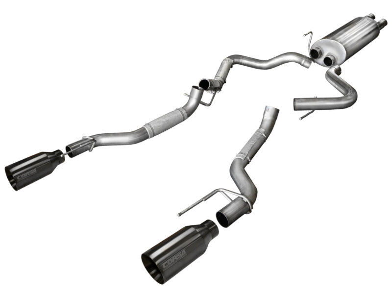 2017 Raptor Corsa Cat-Back Exhaust System with Gunmetal Tips