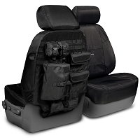 2015-2017 F150 CoverKing Ballistic Cordura Front Seat Covers (Black)