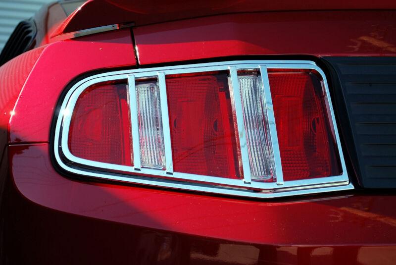 2010 2012 Mustang Dg Custom Tail Light Bezels Chrome Car