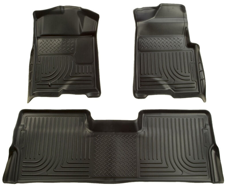 2009 2014 F150 Husky Liners WeatherBeater™ Front U0026 Rear Floor Liners  (Black) 98331