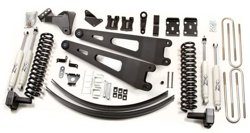 "2011-2015 Super Duty 6.7L 4WD (w/o Top Overload Springs) Zone Offroad 6"" Radius Arm Lift Kit (Diesel)"
