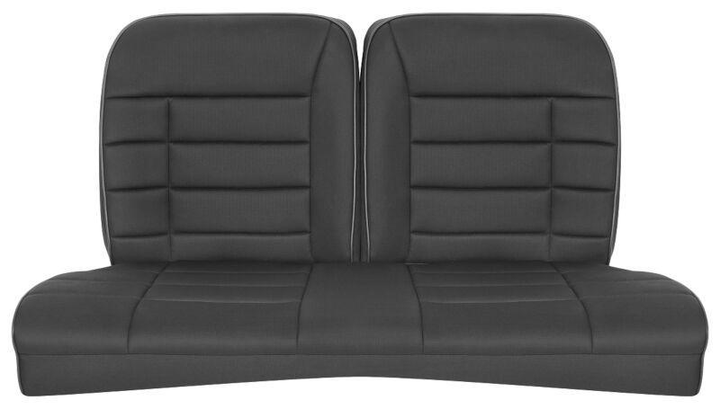 1979-1993 Mustang Coupe Corbeau Rear Seat Cover (Black Cloth)