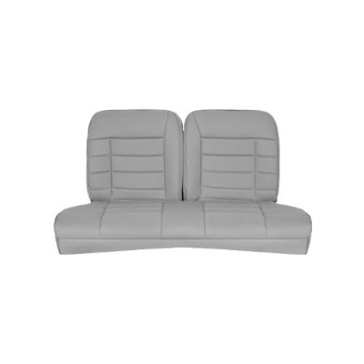 1979-1993 Mustang Coupe Corbeau Rear Seat Cover (Gray Cloth)