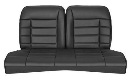 1979-1993 Mustang Coupe Corbeau Rear Seat Cover (Black Vinyl)