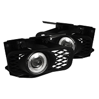 1999-2003 F150 Spyder Halo Projector LED Fog Lights w/ Switch (Clear)