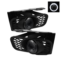 1999-2003 F150 Spyder Halo Projector LED Fog Lights w/ Switch (Smoked)
