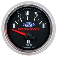 Auto Meter Ford Racing Mustang Oil Pressure Gauge (2-1/16