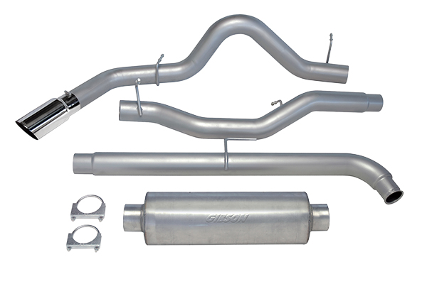 2011-2014 F150 EcoBoost 3.5L Gibson Single Swept Side Exit Cat-Back Exhaust - 5.6ft Bed (Aluminized)