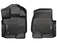 2015-2017 F150 SuperCrew & SuperCab Husky Liners WeatherBeater™ Front Floor Liners (Black)