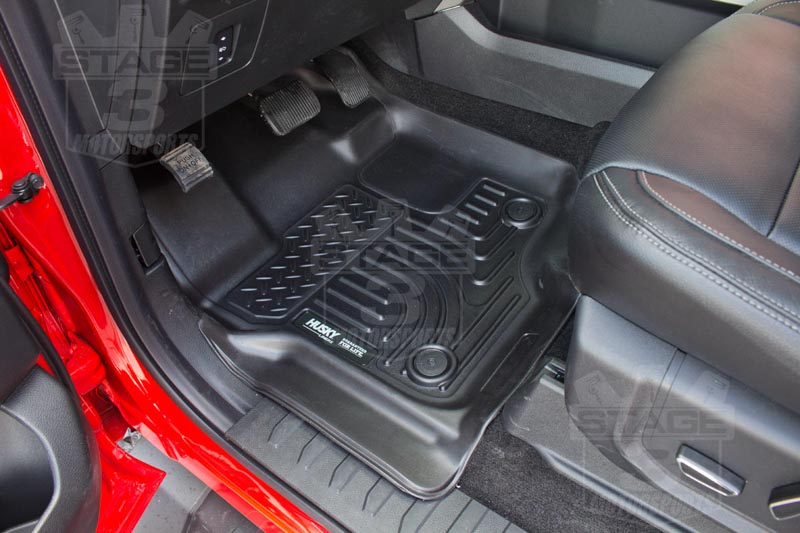 Weathertech floor mats alternative - 2015 2017 F150 Supercrew Supercab Husky Liners Weatherbeater Front Floor Liners Black 18361