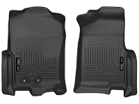 2012-2016 Ford Expedition Husky Liners WeatherBeater Front Floor Mats (Black)