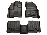 2011-2014 Ford Explorer Husky Liners WeatherBeater Front & Rear Floor Liners (Black)