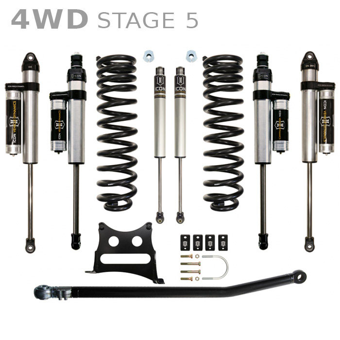 "2005-2015 Super Duty F250 / F350 4WD ICON 2.5"" Stage 5 Lift Kit"