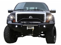 2009-2014 F150 EcoBoost Iron Cross Replacement Front Bumper - Push Bar Model (Winch Ready)