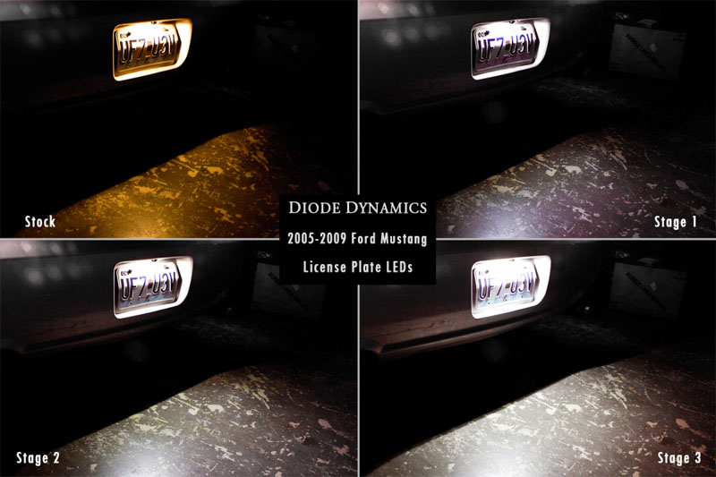 2005 2009 Mustang Gt Diode Dynamics Led Rear License Plate