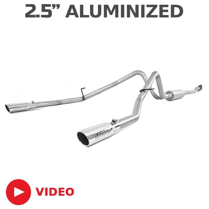 2011-2014 Ford F150 MBRP EcoBoost 3.5L V6 Dual Rear Cat-Back Exhaust (Aluminized)