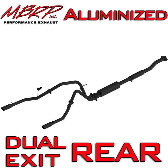"2011-2014 F150 EcoBoost MBRP 2.5"" Dual-Exit Black Series Cat-Back Exhaust Kit"